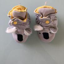0092. Pantufa Coala para recém nascido - 01 - Sem etiqueta Importado