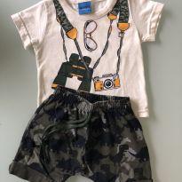 0078. Conjunto infantil Camuflagem - 6 a 9 meses - wrk