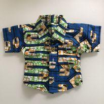 0089. Camisa importada de Ghana - 6 meses - Sem etiqueta Importado