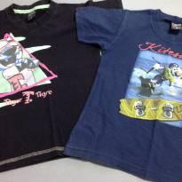 Kit 2 camisetas - 4 anos - Tigor T.  Tigre