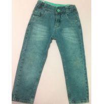 Calça jeans com regulador na cintura - 3 anos - Caedu