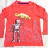 Blusa manga longa GAP robô - 4 anos - GAP