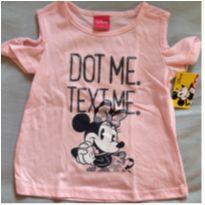 Blusinha Minie com brilho rosinha - 1 ano - Disney