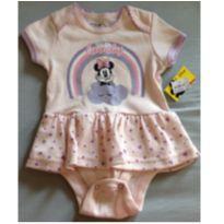 Body Minie rosa - 3 a 6 meses - Disney