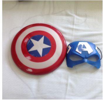 Kit escudo e máscara capitão America - Sem faixa etaria - Hasbro