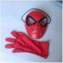 Máscara e luva Homem-aranha em ótimo estado -  - Hasbro