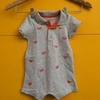 macacãozinho bordado carangueijinhos - 9 a 12 meses - Little Me
