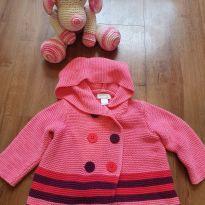 Casaquinho de lã rosa - 3 a 6 meses - First Impressions