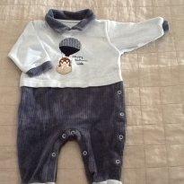 Macacão Veludo Liso e Veludo Cotelê - 0 a 3 meses - GROW UP BABY