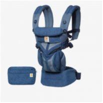 Canguru Ergobaby Original Classic Weave Omni 360 Cool Air Blue + Pochete -  - Ergobaby
