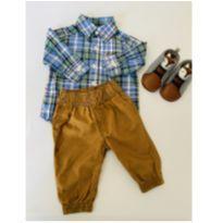 Conjunto de Camisa, Calça e Botinha - 0 a 3 meses - Carter`s