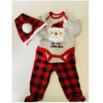 """Conjunto de Frio """"Meu primeiro Natal"""" - 0 a 3 meses - Emporio Baby"""