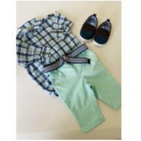 Conjunto de Camisa, Calça, Cinto e Sapato - 0 a 3 meses - Children`s Place