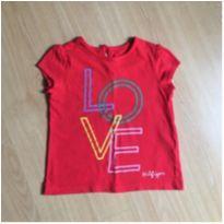 Camiseta vermelha - Tommy Hilfiger 3 anos