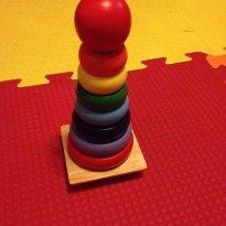 Torre de encaixar em madeira - Sem faixa etaria - Não informada