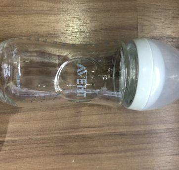 Mamadeira AVENT em vidro (não acompanha bico) 240 ml - Sem faixa etaria - Avent Philips