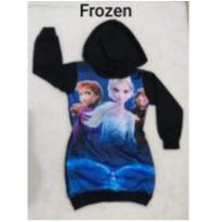Vestido moletom flanelado Frozen  4a 5 anos - 4 anos - Não informada ( Replica)