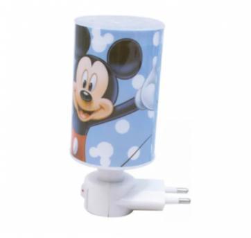 Luminária De Tomada Abajur Azul Mickey Disney Enfeite Quarto - Sem faixa etaria - Disney e Disney baby