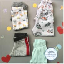 kit 6 calças 0 - 3 | 3 -6 - 3 meses - Baby Way e Petutinha