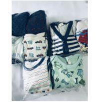 Lote de roupas de 6-9 e de 9-12 meses