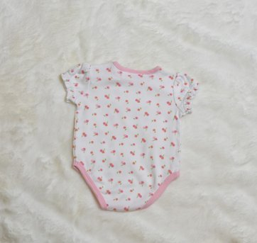 BODY BRANCO COM CEREJAS ROSAS - 0 a 3 meses - First Impressions
