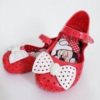 Mini Melissa Furadinha Vermelha - Minnie número 22