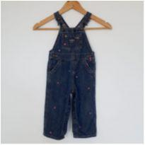 Jardineira Oshkosh Jeans Tam 18 meses - 18 a 24 meses - OshKosh