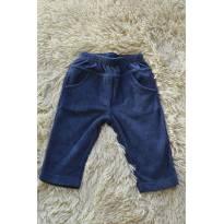 calça de veludo azul P - 3 meses - Paraíso