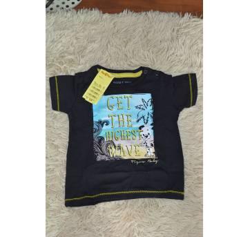 Camiseta Tigor Get The Higlest wave- Preta - 9 a 12 meses - Tigor Baby e Tigor T.  Tigre