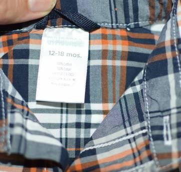 Camisa Xadrez Gymboree - 12 a 18 meses - Gymboree
