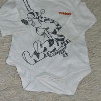 Body manga longa Tigger - 3 a 6 meses - Baby Club