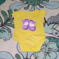 Body Amarelo Boneca - 3 a 6 meses - sem etiqueta
