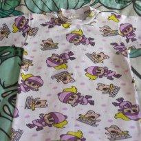 Camiseta Patinadora Lilás - 9 a 12 meses - LUIZINHO BABY