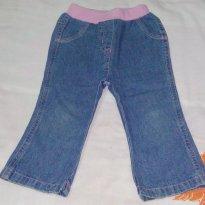 Calça Jeans Menina Cós Rosa - 12 a 18 meses - George