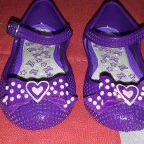 Sapatilha Roxa Laço - 18 - Sophia Baby