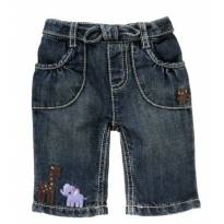 Calça Capri Jeans Gymboree Safari Animais Tam 6-12 Meses - 9 a 12 meses - Gymboree