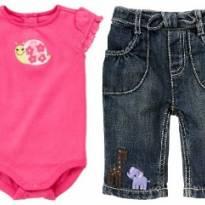 Conjunto Animais Gymboree Body + calça capri 6-12 meses - 9 a 12 meses - Gymboree