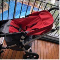 Bugaboo cameleon cinza e vermelho  carrinho de bebê -  - Bugaboo Camaleon 3