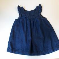 Vestido Gap Baby Jeans - 3 meses - GAP e Baby Gap