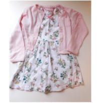 Conjunto vestido e casaquinho - 18 meses - Não informada ( Replica)