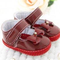 Sapatinho vermelho de verniz com detalhe em strass - 13 - Kit Baby