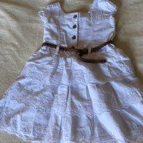 Vestidinho branco Tip Top 2T - 12 a 18 meses - Tip Top