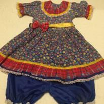 Vestinho caipirinha azul floral 2 - 3 anos - 3 anos - Não informada
