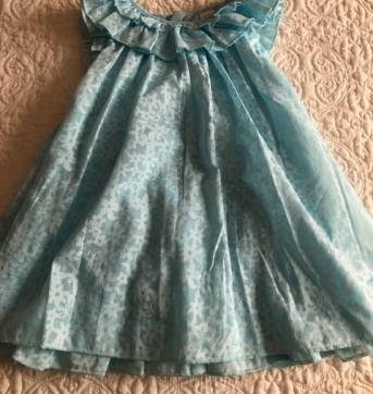 Vestidinho Azul Bebe 1st Impressions 24M - 18 a 24 meses - First Impressions