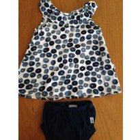 Vestido - Hering - Primavera - 3 a 6 meses - Hering