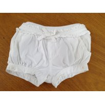 Shorts Branca - Baby Gap - 3 à 6 meses - 3 a 6 meses - Baby Gap