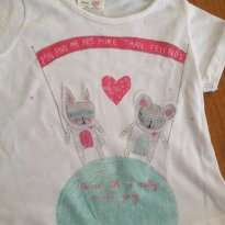 Camiseta - Zara - 9 à 12 meses - 9 a 12 meses - Zara
