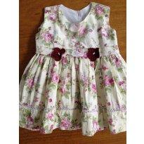 Vestido - 9 à 12 meses ou para bebês de 70 cm à 74 cm - 9 a 12 meses - Sapekita