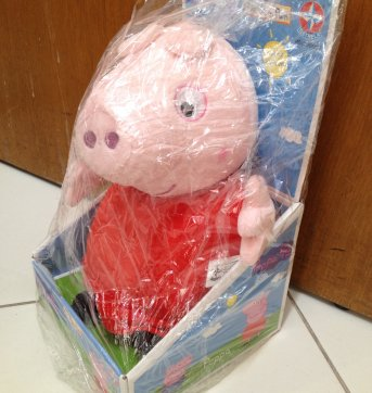 Peppa Pig - pelúcia - aproximadamente 30 cm - Sem faixa etaria - Estrela