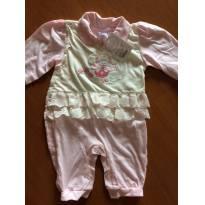 Macacão sem pé - NOVO com etiqueta - Tamanho M - Baby K - 3 a 6 meses - Não informada